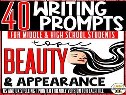 Daily Writing Prompts | Beauty | Middle and High School