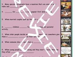 Dating and Marriage 3 Photo Worksheet Set