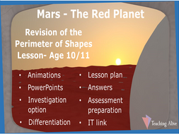 Age 10/11 Revision of the Perimeter of Shapes Lesson