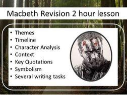 Macbeth Revision Lesson