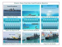 Quantifiers Spanish PowerPoint Battleship Game