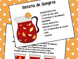 Receta de Sangría, Feria de abril, San Isidro, bebida típica española. Sangria recipe.