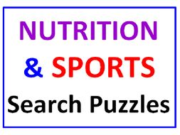 Nutrition Word Search PLUS Sports Word Search (2 Puzzles)