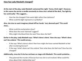 how has lady macbeth changed