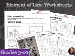 Line The Art Element : Elements of art worksheets & mini lessons element line by