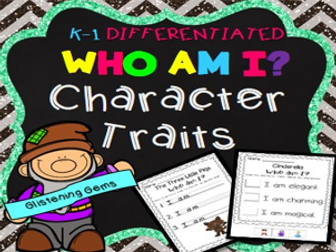 Fairy Tales Character Traits No-Prep Printables