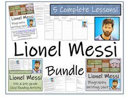 UKS2 Literacy - Bundle of Lionel Messi Activities
