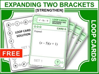 Expanding Two Brackets (Loop Cards)