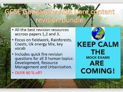 GCSE Geography mock exam revision bundle