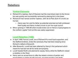 Henry VII - Rebellions