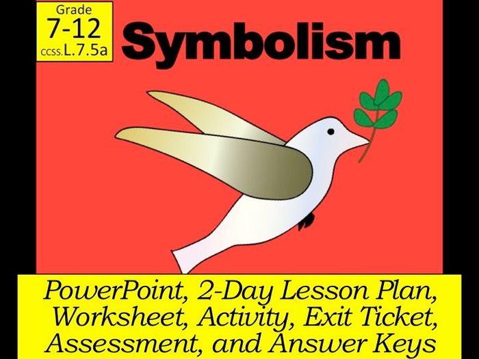 Symbolism In Literature Literary Symbolism By Kimkroll8 Teaching Allegory Worksheet Symbolism In Literature Literary Symbolism
