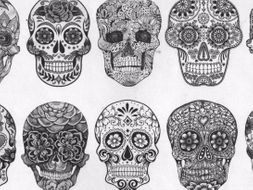 Day Of The Dead Skull Designs By Gdoolan84 Teaching Resources Tes