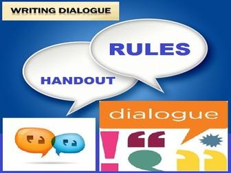 DIALOGUE WRITING RULES : HANDOUT