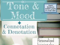 Complete Tone and Mood in Literature Bundle + Connotation and Denotation