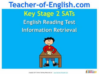 KS2 SATs English Reading - Information Retrieval (PowerPoint and worksheets)