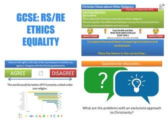 GCSE Religious Studies: Ethics - Equality (4 Lessons)