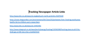 HOMEWORK---Fracking-Newspaper-Article-Links.docx
