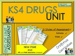 KS4 Drugs Unit PSHE Assessments