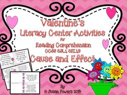 Valentine's Day Cause and Effect Reading Comprehension Game