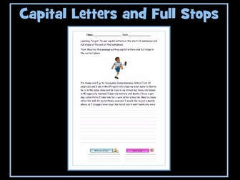Capital Letters and Full Stops: Worksheets
