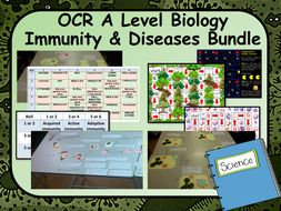 OCR A Level Biology Immunity & Communicable Diseases Bundle