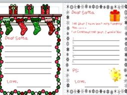 Letters to santa and word bank by littleprimaryteacher teaching letters to santa and word bank spiritdancerdesigns Image collections