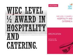 WJEC Hospitality & Catering Lv1/2. LO2