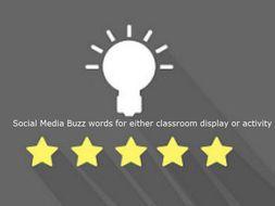 Display these Social Media Buzz words 28 items (editable)