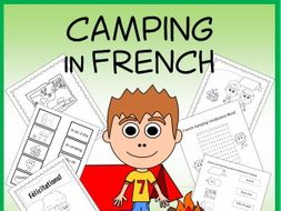 French Camping Vocabulary Sheets and Worksheets