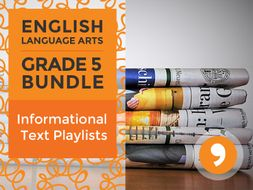 Informational Text Playlists - Complete Grade 5 Bundle
