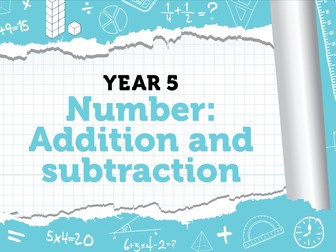 Year 5 - Addition and Subtraction - Week 4 - 5