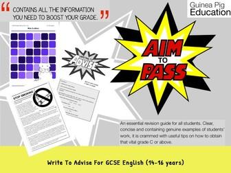Write To Advise (GCSE English Writing Work Pack) (14-16 years)