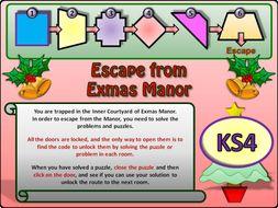 Christmas Maths Escape Room KS4