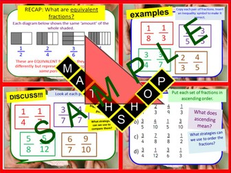 Fractions  Compare and Order Revision or Whole Lesson