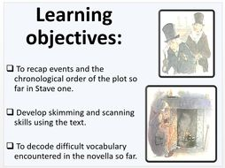 A Christmas Carol: Stave One activity sheets and powerpoint by lofford1 - Teaching Resources - Tes