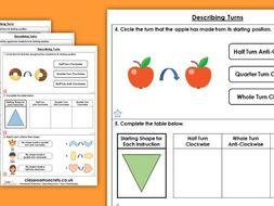 Year 2 Describing Turns Summer Block 1 Maths Homework Extension