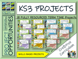 KS3 Project Based Learning Complete Bundle