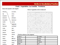 Spanish Vocabulary Activity Sheets