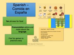 Food in Spain Comida en España