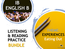 IB ENGLISH B LISTENING AND READING PRACTICE BUNDLE