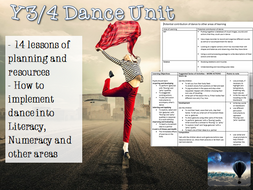 Y3/4 PE Dance Unit LKS2  14 Lessons Y4