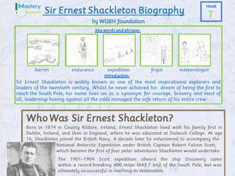 Sir Ernest Shackleton Biography Comprehension KS2