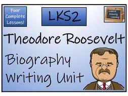 LKS2 Theodore Roosevelt Biography Writing Activity