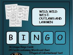 Reading Passages and Bingo - Wild West Outlaws