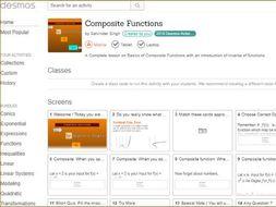 Desmos Classroom activities for different topics