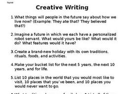 features of creative writing