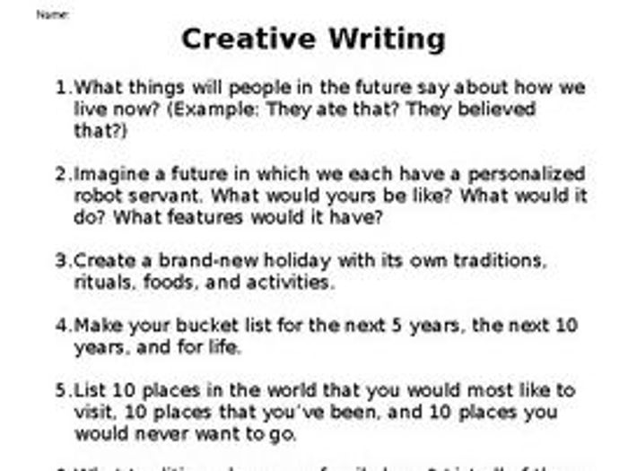 Using Pictures for Creative Writing Prompts