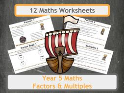 Viking Themed Factors, Multiples and Prime Number Problems for Year 5 Classes