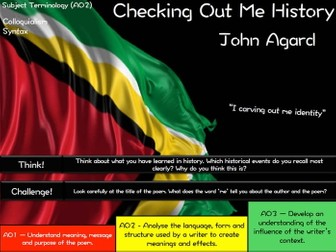 Checking Out Me History - John Agard - AQA Poetry - Power and Conflict