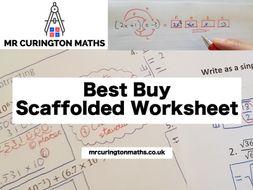 Best Buy Scaffolded Worksheet